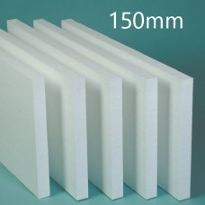 150mm White Polystyrene Board (EPS) for External Wall Insulation (pack of 4)