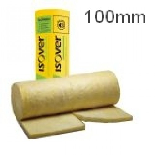 100mm Isover Acoustic Partition Roll Insulation For