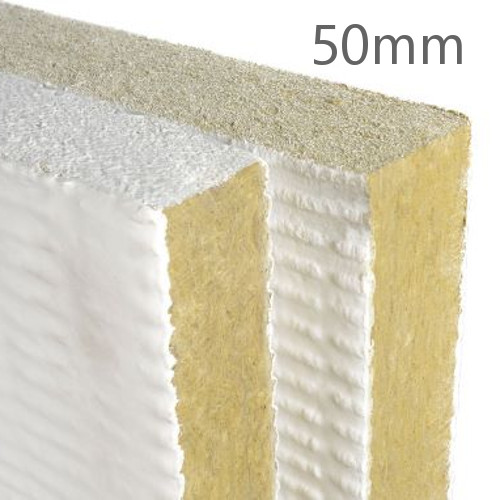 50mm rockwool ablative coated batt rock wool insulation for Mineral wool r value