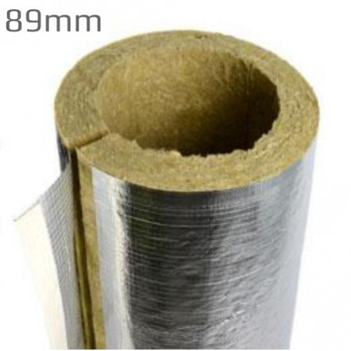 89mm bore 25mm thick rockwool rocklap pipe insulation for Mineral fiber insulation r value