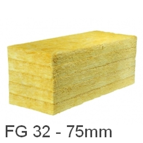 75mm ursa 32 cavity insulation batt glass mineral wool for Insulation batt sizes