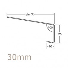 30mm Aluminium Window Sill Extensions WEC 761 (with full end caps - pair) - 2.5m Length