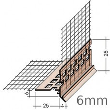 6mm PVC Balcony and Window Drip with mesh - pack of 10