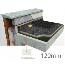 120mm Flat Roof PIR Insulation Board Xtratherm FR-BGM (pack of 3)