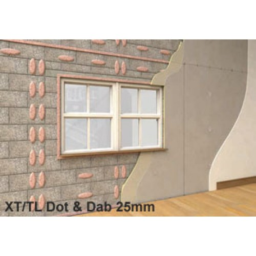 25mm xtratherm xt tl thermal liner dot and dab insulated. Black Bedroom Furniture Sets. Home Design Ideas