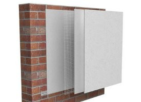 External wall insulation products and insulated render systems