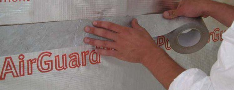 Dupont Tyvek Metallised Tape Breather Membrane Tape