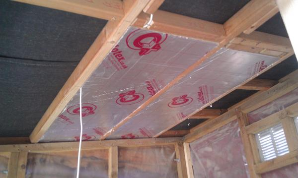 Insulation In Shed Into Office Conversion