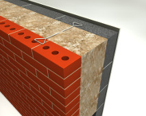 50mm dritherm 37 standard cavity slab knauf glass for Glass block r value