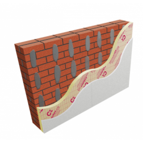 25mm Celotex GD5025 PIR Insulation Board with 12.5mm Plasterboard (pack of 26)