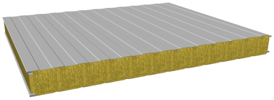 Sandwich Panels Types : Sandwich wall panels with mineral wool core composite