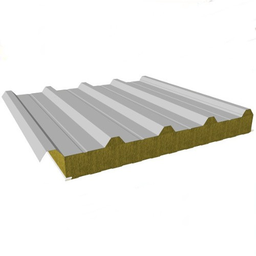 Sandwich Roof Panels with Mineral Wool Core - Composite Roof Panel - Steel Facing