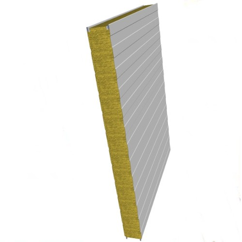 Rock Wool Insulated Sandwich Wall Panels - Various Steel Claddings