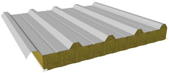 Sandwich Roof Panels With Mineral Wool Core Composite