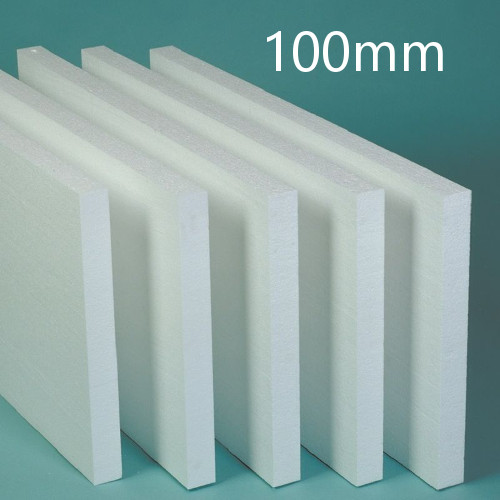 100mm White Polystyrene Board (EPS) for External Wall Insulation (pack of 6)