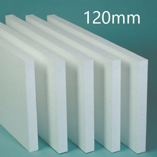 120mm White Polystyrene Board (EPS) for External Wall Insulation (pack of 5)