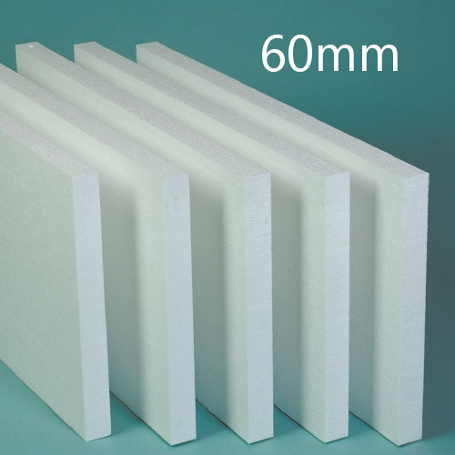 60mm White Polystyrene Board (EPS) for External Wall Insulation (pack of 10)