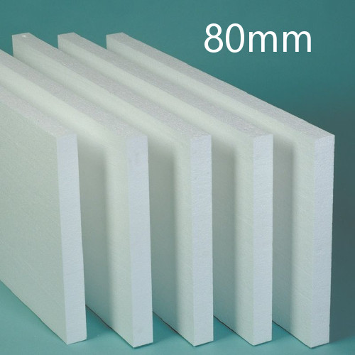 80mm White Polystyrene Board (EPS) for External Wall Insulation (pack of 7)