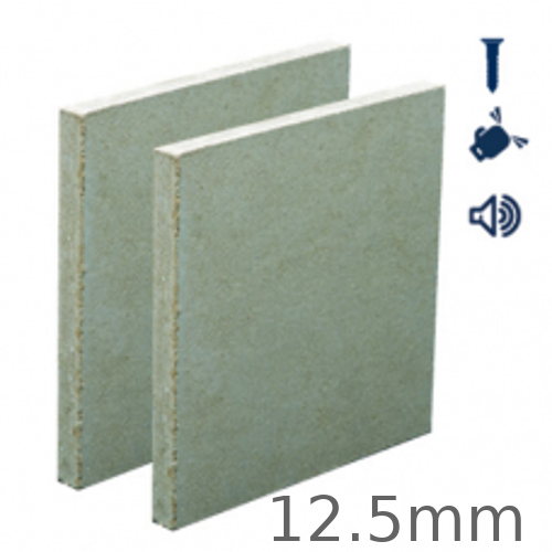12.5mm British Gypsum Rigidur H Impact Resistant Gypsum Fibre Board