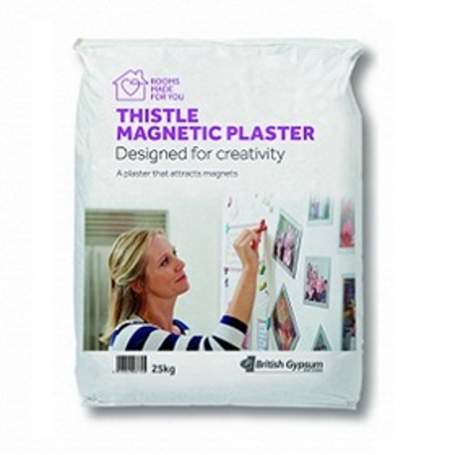 British Gypsum Thistle Magnetic Plaster- 25kg - pallet of 24