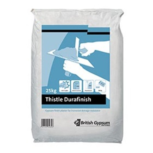 British Gypsum Thistle DuraFinish Plaster- 25kg-