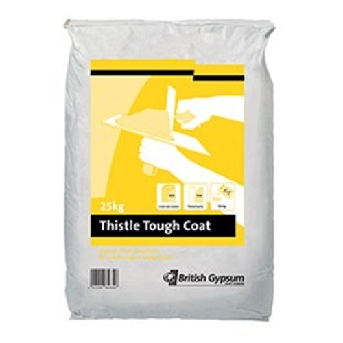 British Gypsum Thistle ToughCoat Undercoat Plaster- 25kg