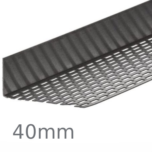 40mm Cedral Aluminium Perforated Closure - 2.5m length