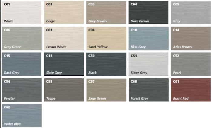 10mm Cedral Lap Cladding Board Fibre Cement Standard