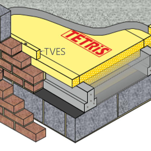 30mm Cellecta Hexatherm TETRiS TVES -  Vertical Edge Insulation Strip