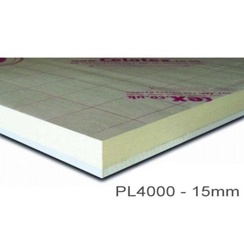15mm Celotex PL4000 - PIR  Insulation Bonded to Plasterboard  (PL4015)