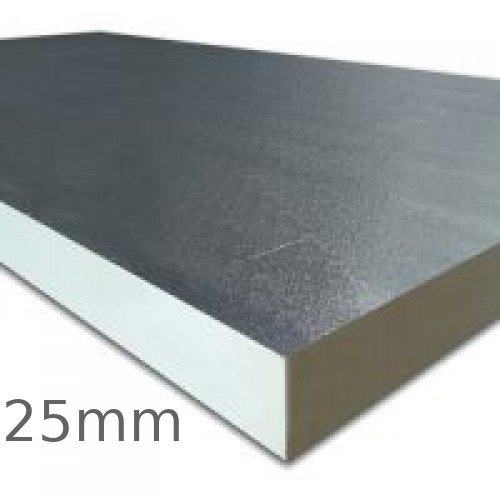 25mm celotex fr5025 pir insulation board rigid for Is fiberglass insulation fire resistant