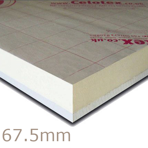 67.5mm Celotex PL4055 - 55mm PIR  Insulation Bonded to 12.5mm Plasterboard (PL4000)