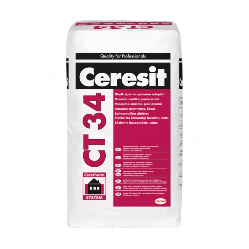Ceresit CT34 Smooth Mineral Render White - 25Kg