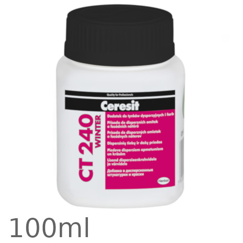 Ceresit CT 240 Winter - Additive for Wet Renders and Paints Drying Under Low Temperatures - 100ml