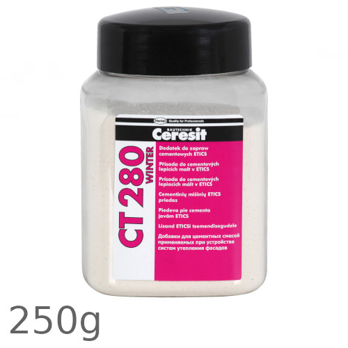 Ceresit CT 280 Winter - Additive for ETICS and Wet Renders Drying Under Low Temperatures - 250g