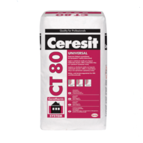 Ceresit CT 80 Universal Adhesive for Mineral Wool EWI Slabs, Polystyrene and Phenolic Boards