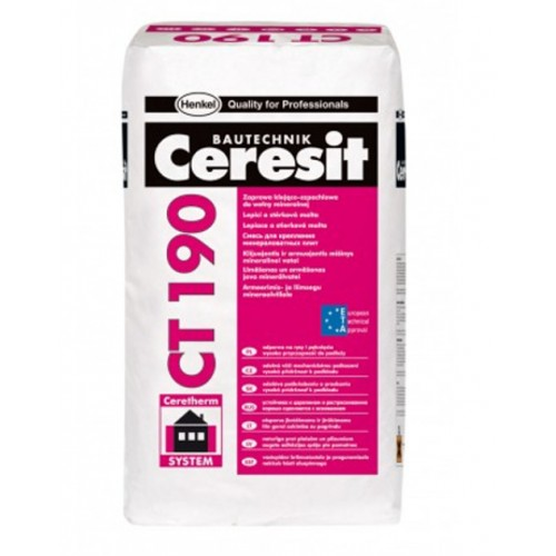 Ceresit CT190 Adhesive and Reinforcing Mortar for Mineral Wool External Wall Insulation Slabs