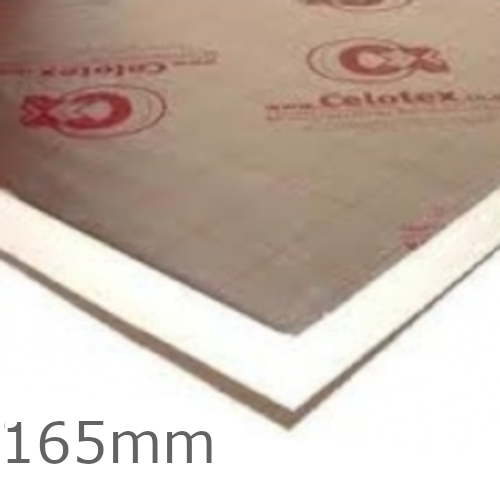 165mm Celotex XR4000 PIR Insulation Board (pack of 12) - XR4165
