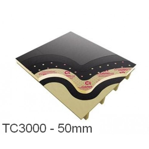 50mm Celotex TC3000 Flat Roof Board - Torch on (pack of 10)