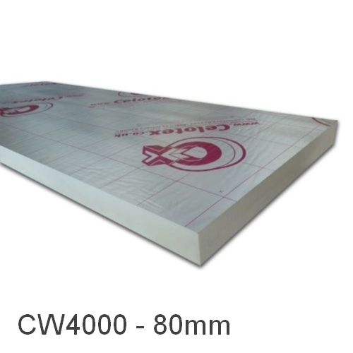 80mm Celotex CW4000 Rigid PIR Cavity Insulation Board (pack of 6)