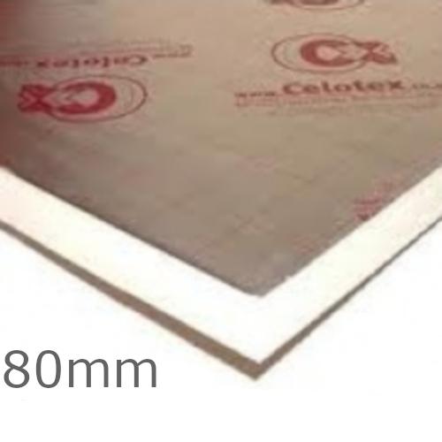 80mm Celotex GA4000 PIR Insulation Board - GA4080