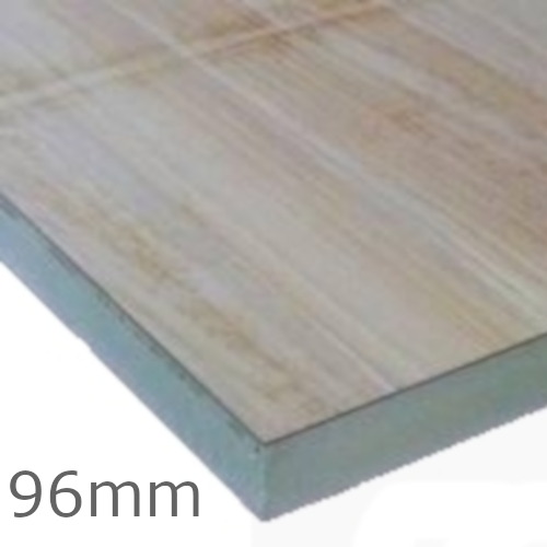 96mm Celotex TD4000 PIR Flat Roof Insulation Board with Plywood
