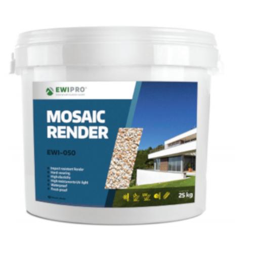 EWI-050 Mosaic Render - 25kg Tub - White, Black or Grey
