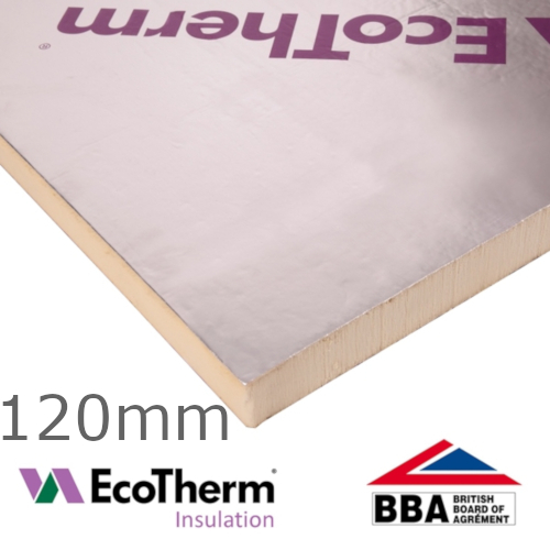 120mm EcoTherm EcoVersal PIR Insulation Board