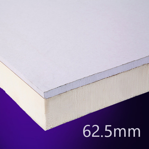 62.5mm EcoTherm EcoLiner PIR Insulated Plasterboard