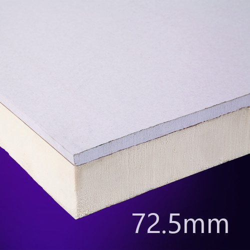72.5mm EcoTherm EcoLiner PIR Insulated Plasterboard