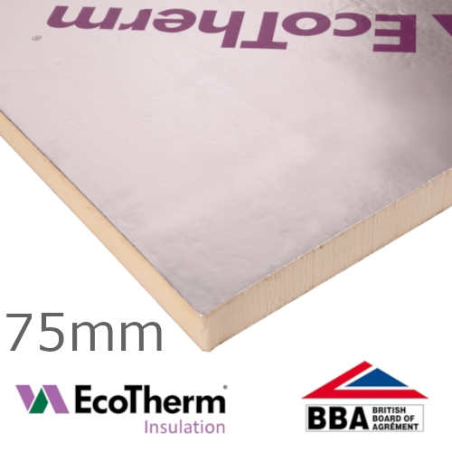 75mm EcoTherm EcoVersal PIR Insulation Board