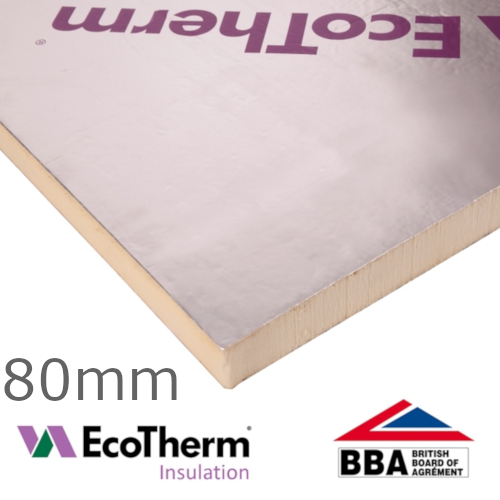 80mm EcoTherm EcoVersal PIR Insulation Board