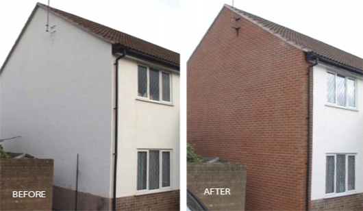 External Wall X-Clad Brick Slip Cladding System