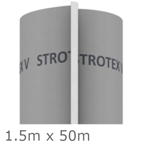 Strotex V 135GSM Breather Membrane for Roofs and Walls - 1.5m x 50m Roll